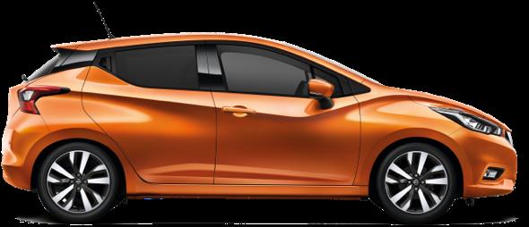 Orange Nissan Leaf Car